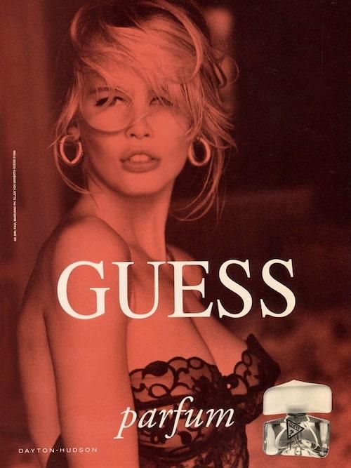Guess-kampanjen med Claudia Schiffer.