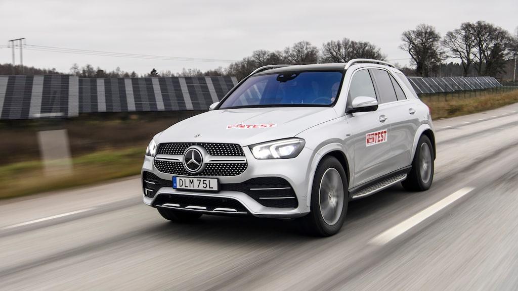 Räckviddstestet på Mercedes GLE blev utdraget. Nio mil på el, sen blev det diesel.