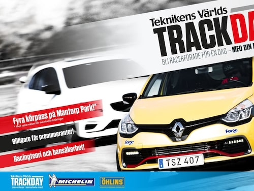 Teknikens Värld Trackday bandag 30 maj 2019