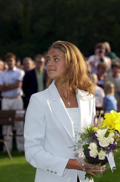 Prinsessan Madeleine på Victoria-dagen på Öland, 2000.