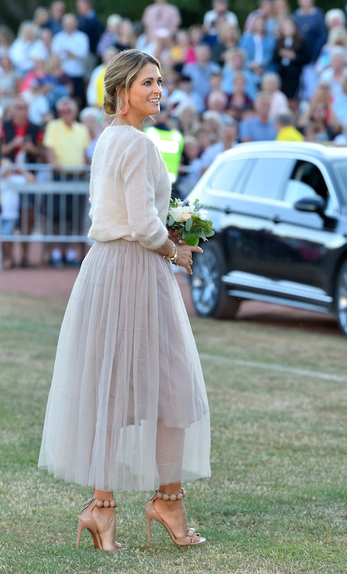 Prinsessan Madeleine under firandet av Victoriadagen på Borgholms idrottsplats, Borgholm, Öland, 2019.