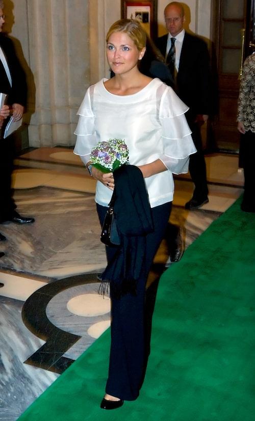 """Prinsessan Madeleine anländer till premiären av baletten """"Cendrillon"""" på Operan i Stockholm, 2007."""