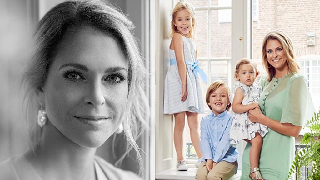 Swedish magazine mama met Princess Madeleine of Sweden and her children Princess Leonore, Prince Nicolas and Princess Adrienne for an exclusive photo shoot and interview.