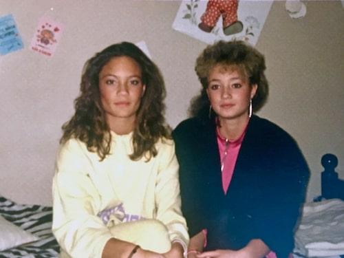 Pernilla och Lotta på 80-talet.