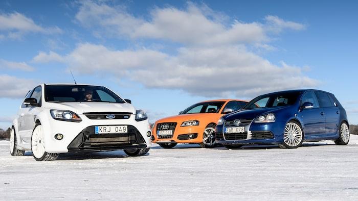 Har vi kört tre svenska bilar till Bonneville Salt Flats i Utah? Nej, vi nöjde oss med ett vintrigt Uppsala.