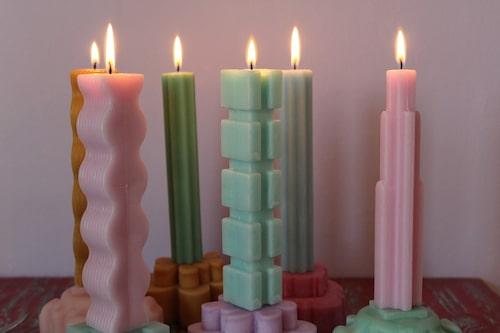 Skulpturala ljus, Beamblocks, samarbete mellan Designtorget och Beckmans designskola.