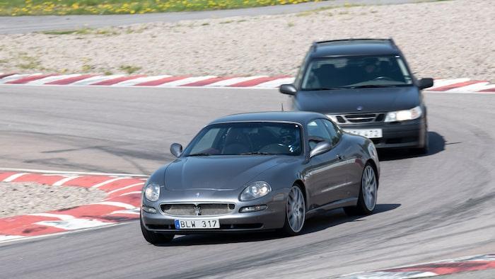 Maserati-klubben representerades av en skönsjungande Coupé.