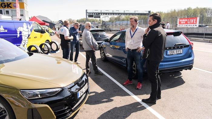Audi visade upp de två snabba elbilarna RS e-tron GT och e-tron S Sportback.