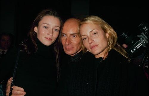 Modellerna Audrey Marnay och Amber Valetta tillsammans med Garren i slutet av 90-talet.