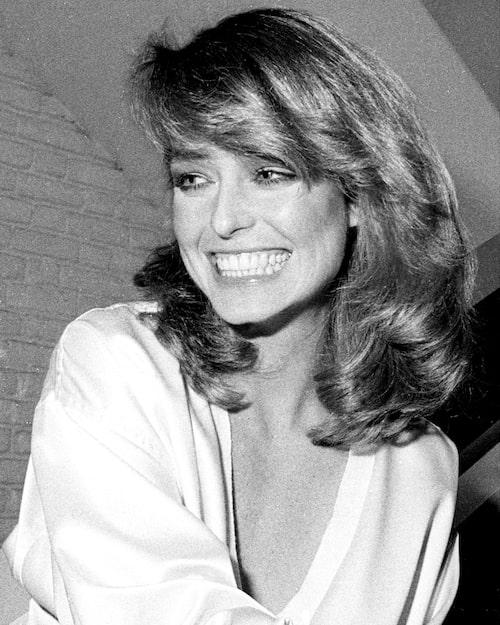 Farrah Fawcett 1978, i ny frisyr av Garren.