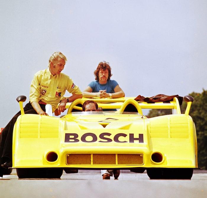 Günther Steckkönig väntar på start, Norisring 1972. Coola killar!