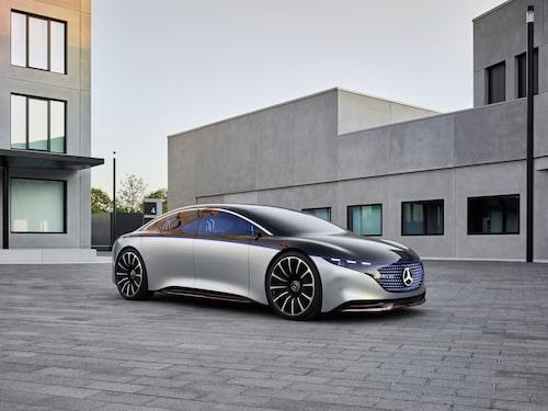 Mercedes EQS som konceptbil.