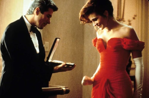 Julia Roberts röda klänning borde få en egen rad i Pretty Womans eftertexter.