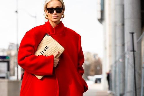 Besökare på Paris modevecka.