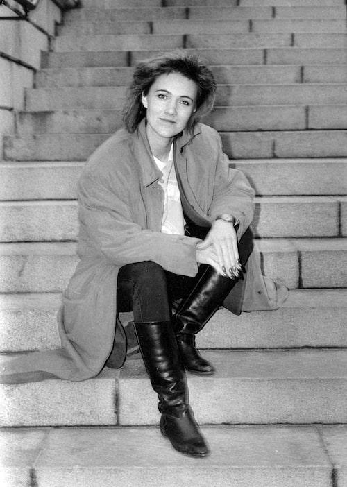 Marie Fredriksson i december 1986