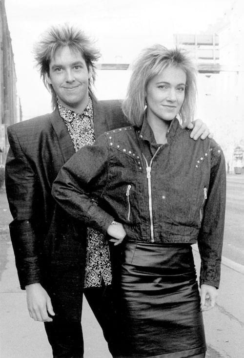 Per Gessle och Marie Fredriksson 1986.