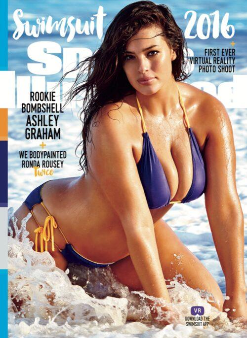 Ashley Graham slog igenom som modell efter sitt omslag på magasinet Sports Illustrated