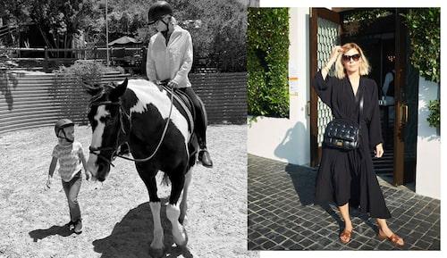 Jennie Hammar och dottern Ilse delar kärleken till hästar.