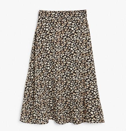 Leopardmönstrad kjol från Kappahl.