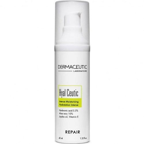 Hyal Ceutic är antiinflammatorisk och lugnar känslig eller inflammerad hud, vilket skapar en balanserad hud.