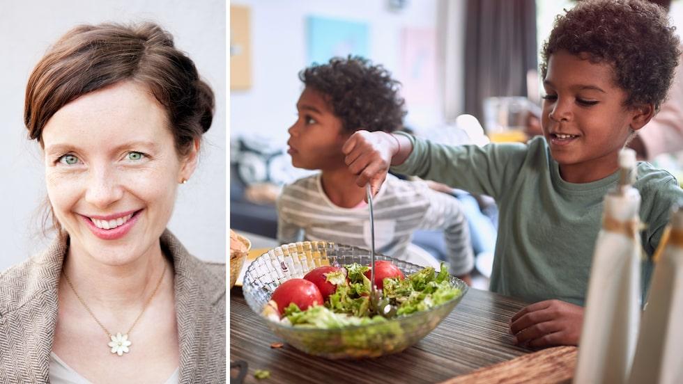Duka fram det du vill att familjen ska äta ofta, tipsar barndietist Sara Ask.