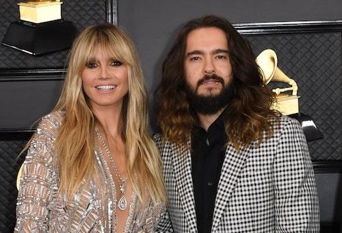 Heidi Klum och maken Tom Kaulitz på Grammy-galan.