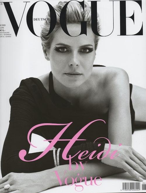 Heidi Klum på omslaget till tyska Vogue.