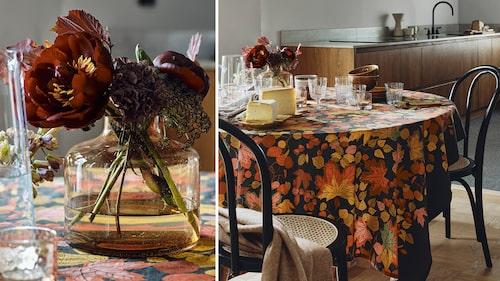 Stora mönster, rustika material och dova färgskalor dominerar det eleganta 70-talet.