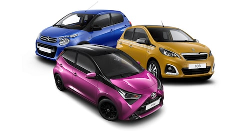 Dagens syskontrio: Toyota Aygo, Peugeot 108 och Citroen C1.