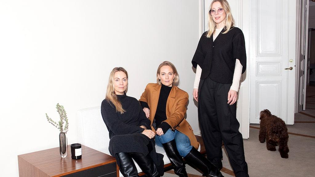 House of Dagmar öppnar ny butik. På bilden syns syskonskaran bakom märket: Karin Söderlind, Sofia Wallenstam och Kristina Tjäder.
