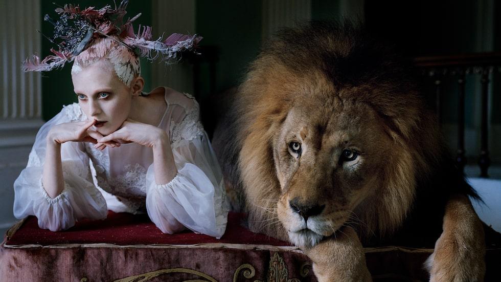Karen Elson plåtad för modemagasinet Love, september 2013.