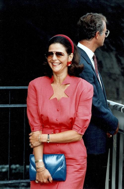 Kungaparet drottning Silvia och Kung Carl XVI Gustaf besöker Stockholm City och under Vattenfestivalen i augusti 1991.