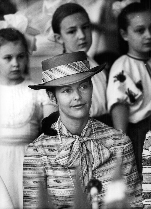 Silvia under kungaparets statsbesök i Sovjetunionen 1978.