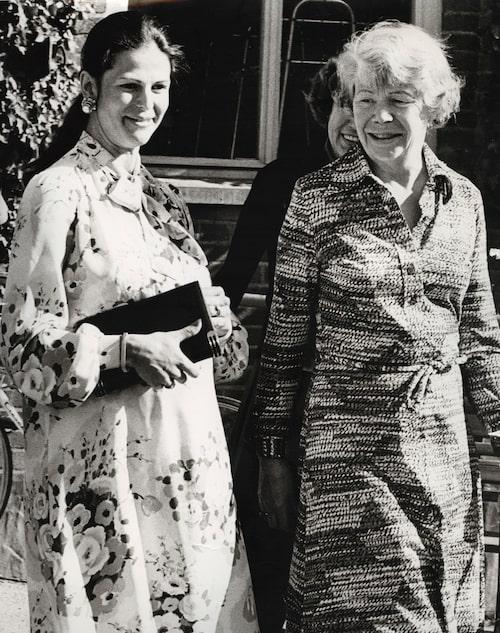 Höggravida Drottning Silvia & Ingrid Björnberg, 1977.