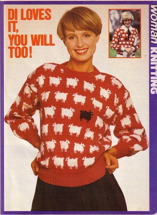 Stickbeskrivningarna var otaliga när tröjan blev populär.
