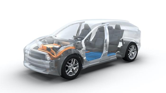 Toyotas första helelektriska bil ser ut att bli en mellanstor suv och en direkt konkurrent till bland andra Volkswagen ID.4.