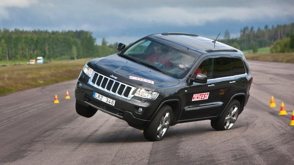 Sommaren 2012 gick det så här för Jeep Grand Cherokee, i liknande hastighet som RAV4.