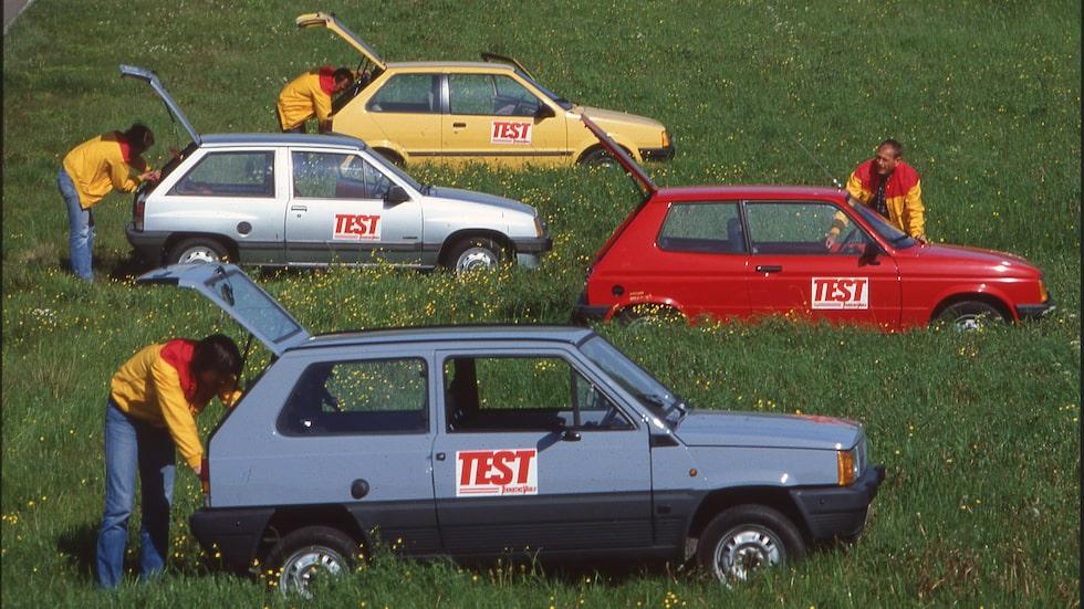 Småbilarna får pusta ut i gräset efter den pärs testlaget utsatt dem för.