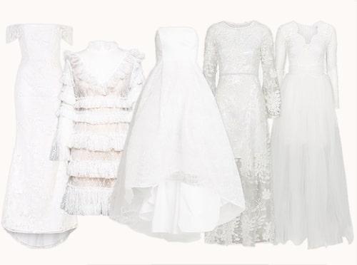 Brudklänningar under 2000 kronor.