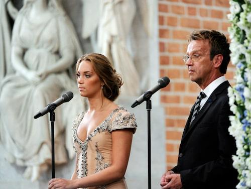 Agnes och Björn Skifs på kronprinssessparets bröllop 2010.