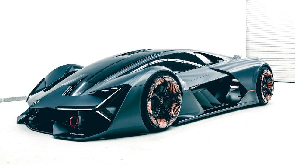 Elektriska supersportbilen Lamborghini Terzo Millennio visades i november 2017.