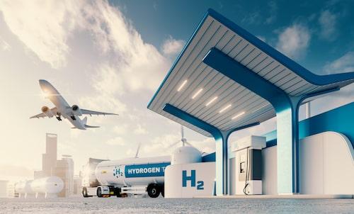 Forskarna menar att vätgas kan vara bra inom andra områden än vägtransport. Flyget är ett sådant område.