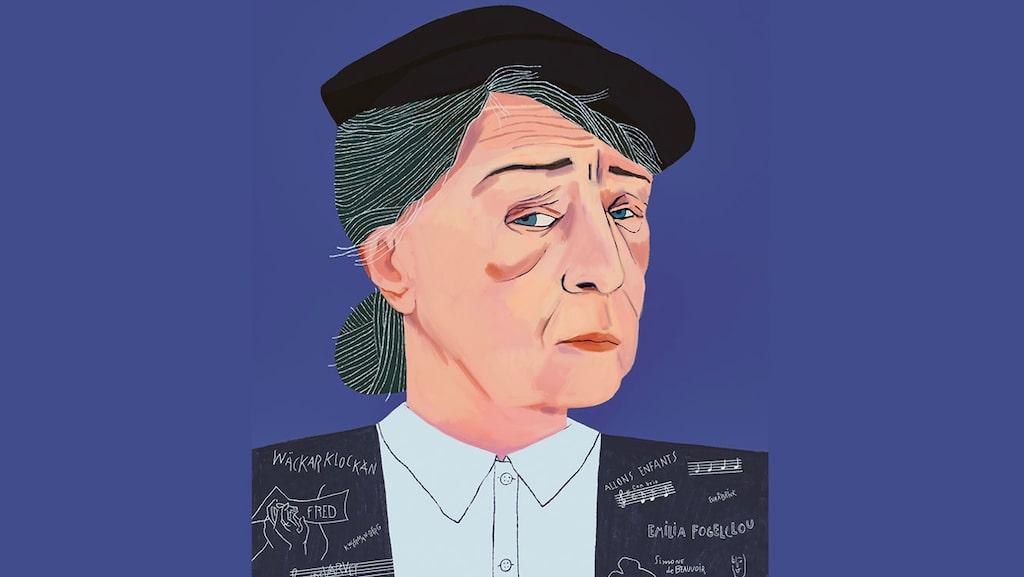 Siri Derkert, porträtterad av Agnes Florin i boken Svenska hjältinnor: 100 berättelser om starka & modiga kvinnor.