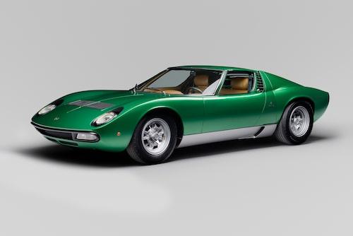 Och design, som så många pratar om när det gäller bilar, har inte alls hög prioritet när det kommer till val av bil för eget bruk. Här ses en Lamborghini Miura SV från 1971.
