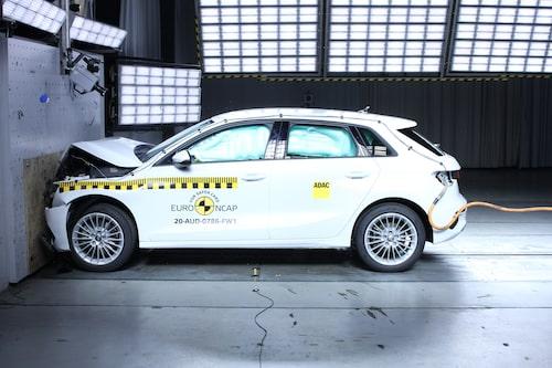 Nya Audi A3 var en av fem bilar som i denna krocktestomgång lyckades få högsta betyg.