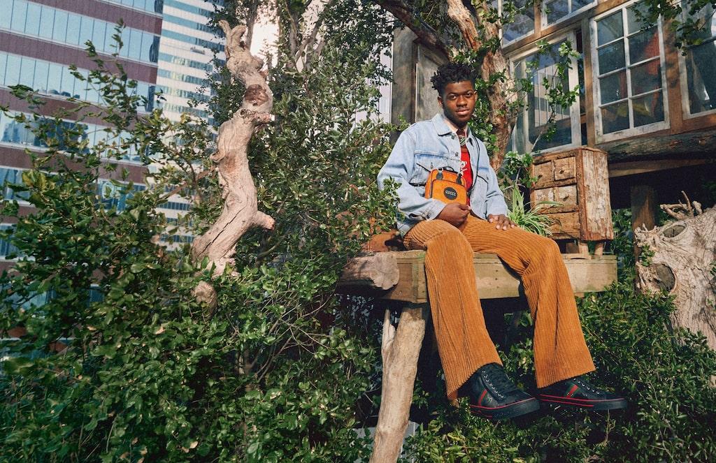 Artisten Lil Nas X i Guccis nya kampanj.