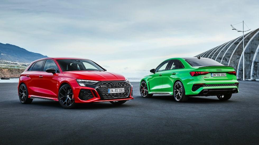 Nya Audi RS3 i två smaker – halvkombi och sedan.