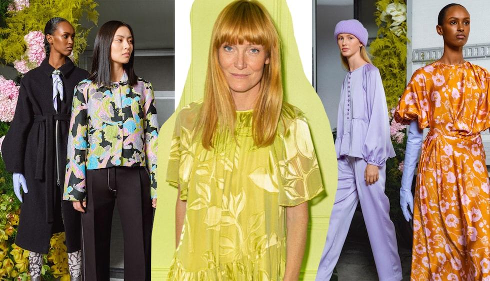 Stine Goya, danska färgstarka designern, visar vårmode för 2022 på Copenhagen Fashion Week på torsdag.
