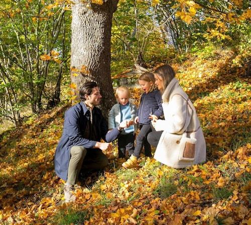 Prinsparet med de två barnen Gabriel och Alexander.