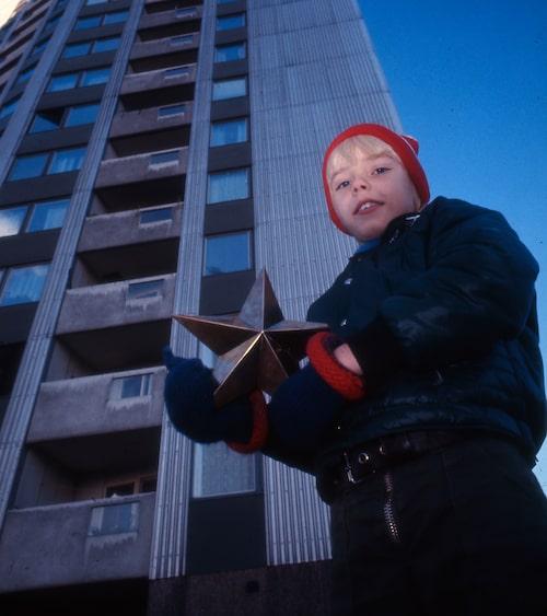 Julkalender i betongmiljö 1972.